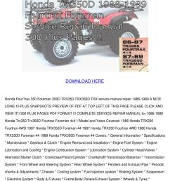 honda fourtrax 350trx service manual download by alise neveu issuu89 honda 350 fourtrax wiring diagram  [ 1060 x 1500 Pixel ]
