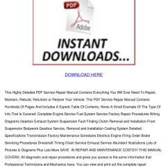 Nissan Primera Wiring Diagram Bobcat T190 P12 Service Repair Manual Pdf By Claris