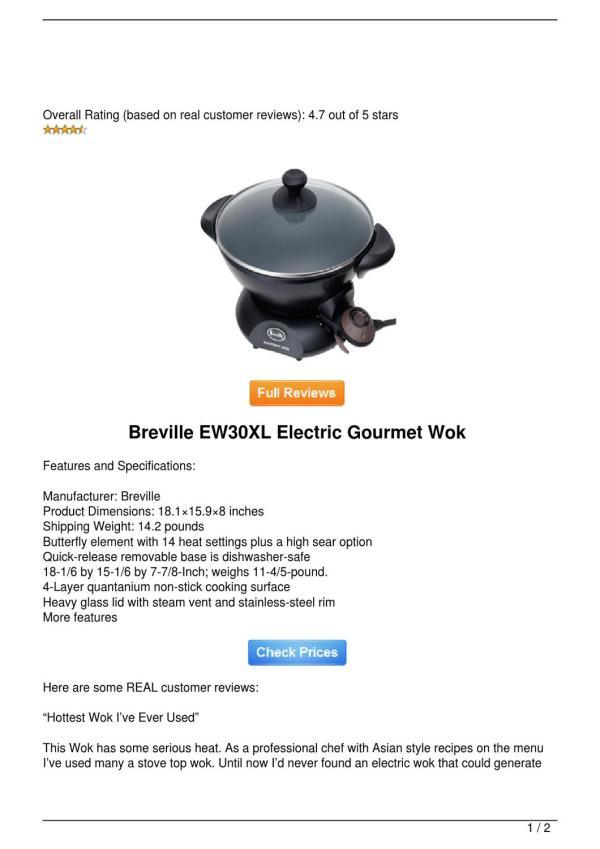 Breville Ew30xl Electric Gourmet Wok Lyle Hensley - Issuu