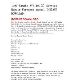 1999 yamaha xvs1100 l service repair workshop manual instant download [ 1060 x 1500 Pixel ]