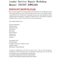 bobcat 630 631 632 skid steer loader service repair workshop manual instant download by qin wanga issuu [ 1060 x 1500 Pixel ]