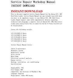 bobcat 873 883 skid steer loader service repair workshop manual instant download by qin wanga issuu [ 1060 x 1500 Pixel ]