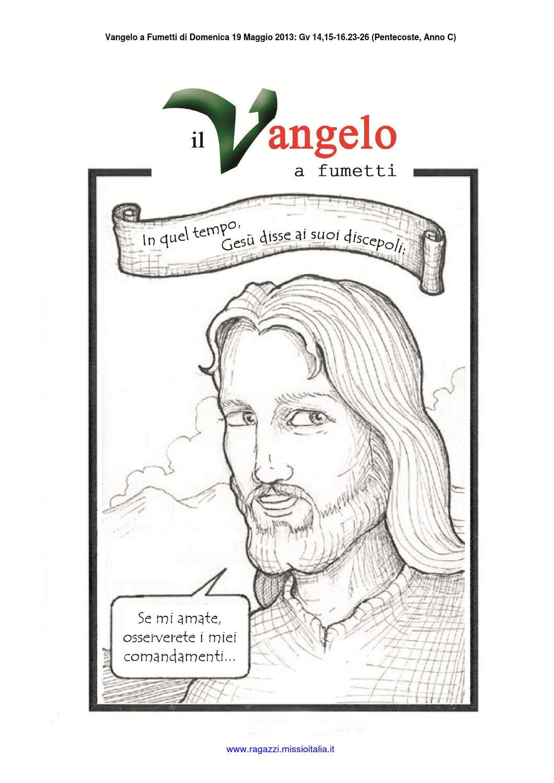 Vangelo a Fumetti (Pentecoste, Anno C, Gv 14,15-16.23-26