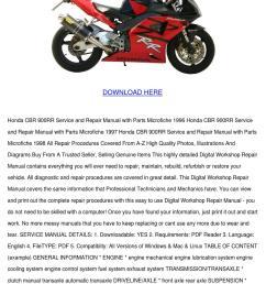 honda cbr 900rr service and repair manual 199 by reda mccrady issuu [ 1060 x 1500 Pixel ]