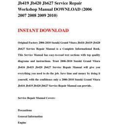 2006 2010 suzuki grand vitara jb416 jb419 jb420 jb627 service repair workshop manual download 2006 [ 1060 x 1500 Pixel ]