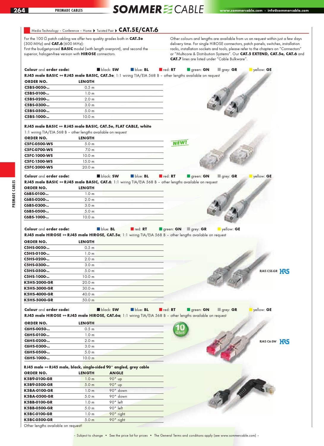 hight resolution of sommer cable catalog deel 2 plug connectors premade cables sale displays