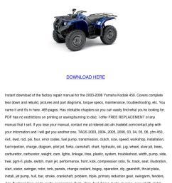 yamaha kodiak 450 service manual repair 2003 [ 1060 x 1500 Pixel ]