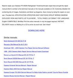 daewoo fr 4502n refrigerator service manual by alex selmer issuu [ 1060 x 1500 Pixel ]