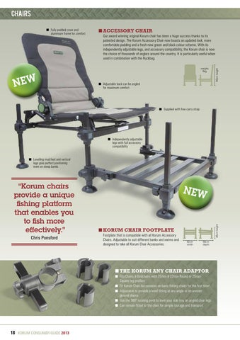 korda chair accessories distressed table and chairs korum consumer guide 2013 by fishing uk issuu page 18