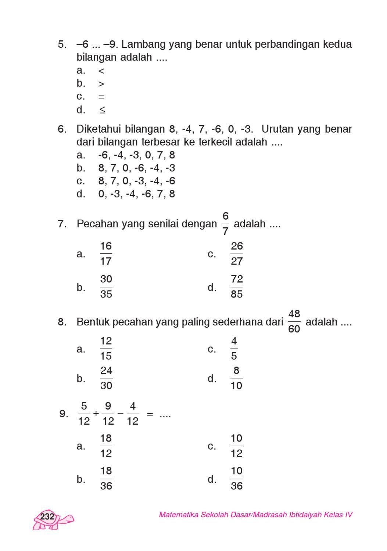 Urutan Bilangan Pecahan : urutan, bilangan, pecahan, Kelas, Matematika, Hardi, Herawati, Issuu