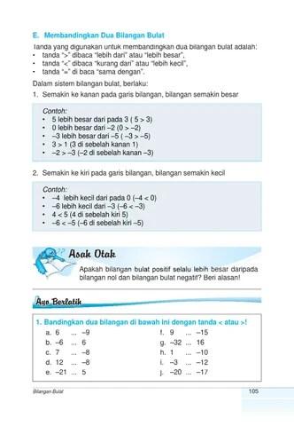 Contoh Bilangan Kurang Dari Dan Lebih Dari : contoh, bilangan, kurang, lebih, Kelas, Matematika, Suparti, Herawati, Issuu
