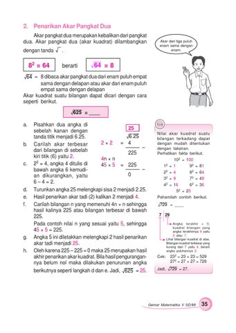 Akar Pangkat Dua : pangkat, Kelas, Gemar, Matematika, Sumanto, Herawati, Issuu