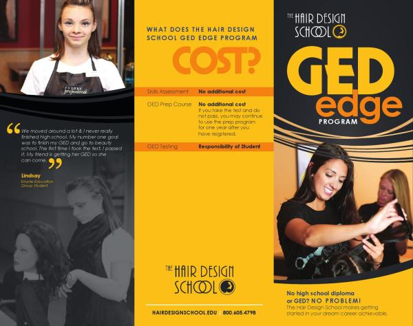 Hair Design School Ged Program Brochure Empire Beauty