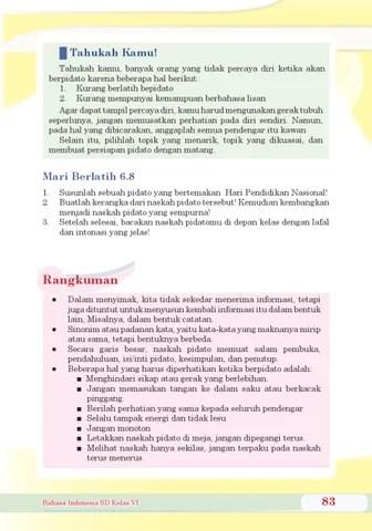 Hal Yang Harus Diperhatikan Dalam Berpidato : harus, diperhatikan, dalam, berpidato, Kelas, Bahasa, Indonesia, Herawati, Issuu