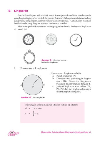 Benda Berbentuk Lingkaran : benda, berbentuk, lingkaran, Kelas, Matematika, Hardi, Herawati, Issuu