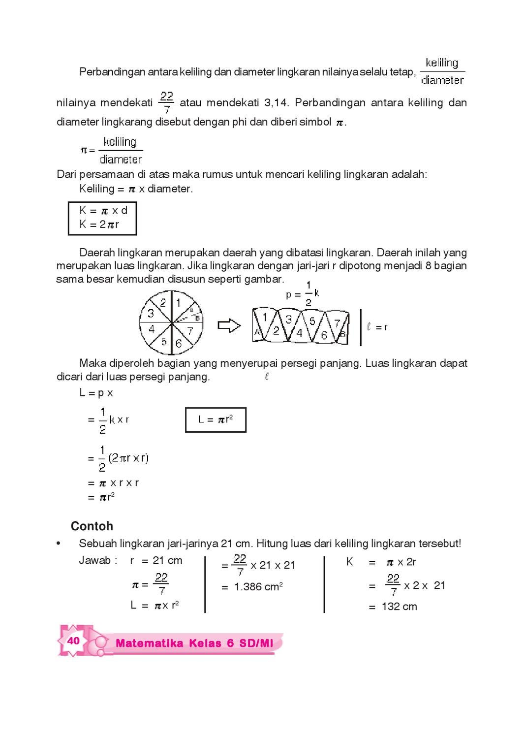 Rumus Mencari Diameter Lingkaran : rumus, mencari, diameter, lingkaran, Kelas, Matematika, Sukirno, Herawati, Issuu