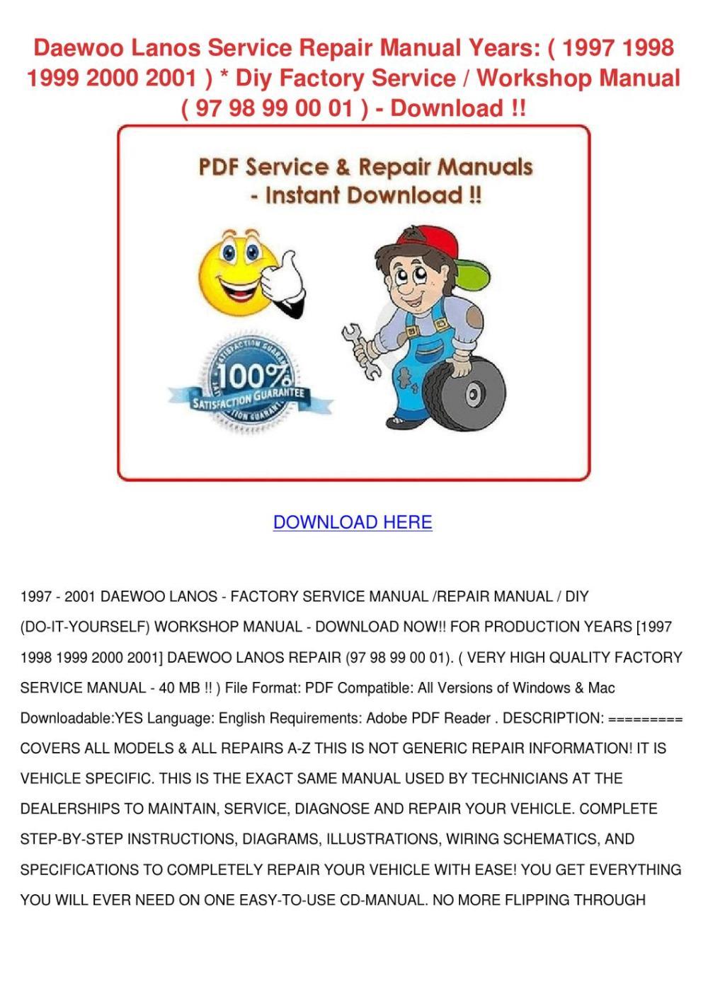 medium resolution of daewoo cielo workshop manual english