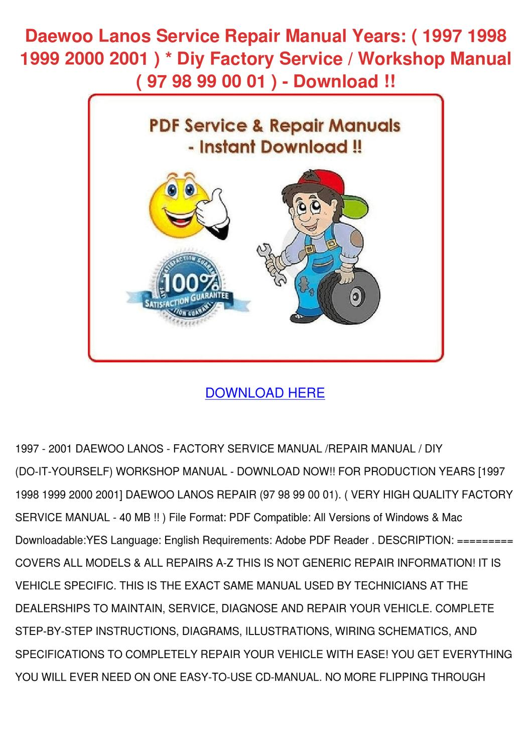 hight resolution of daewoo cielo workshop manual english