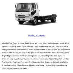 Mitsubishi Canter Stereo Wiring Diagram 91 240sx Radio Fuso Engine Library