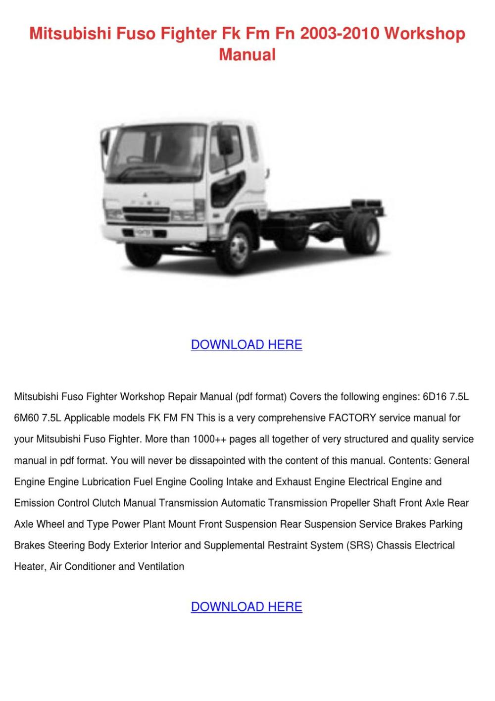 medium resolution of mitsubishi truck wiring diagram manual e book 2000 mitsubishi fuso wiring diagram