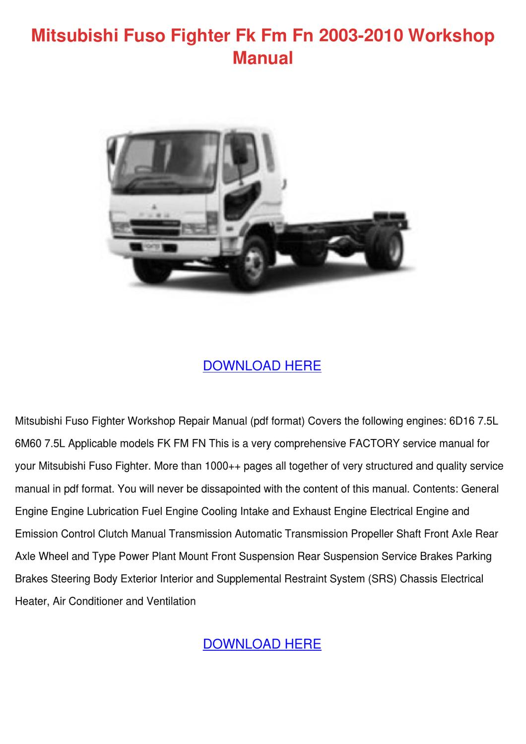 hight resolution of mitsubishi truck wiring diagram manual e book 2000 mitsubishi fuso wiring diagram
