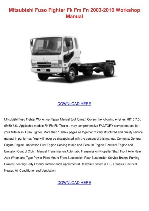 small resolution of mitsubishi truck wiring diagram manual e book 2000 mitsubishi fuso wiring diagram