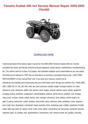 Yamaha Kodiak 400 4x4 Service Manual Repair 2 by Ona Wax  Issuu