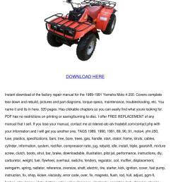 yamaha moto 4 250 service manual repair 1989 [ 1060 x 1500 Pixel ]