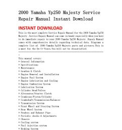 2000 yamaha yp250 majesty service repair manual instant download by light switch wiring diagram 2000 yamaha [ 1060 x 1500 Pixel ]