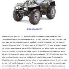 Kawasaki Bayou 300 4x4 Wiring Diagram Hayward Super Pump Motor Service Manual Free 2019 Ebook Library Klf300 4x2 All Terrain Veh By Noreen Meilleur Issuu