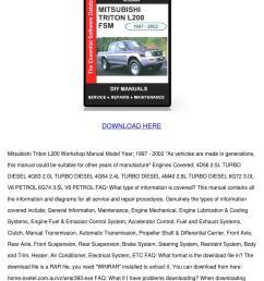 mitsubishi l200 part manual [ 1060 x 1500 Pixel ]
