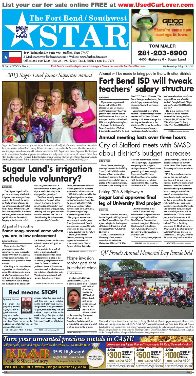 medium resolution of may 29 2013 fort bend community newspaper by fort bend star newspaper issuu