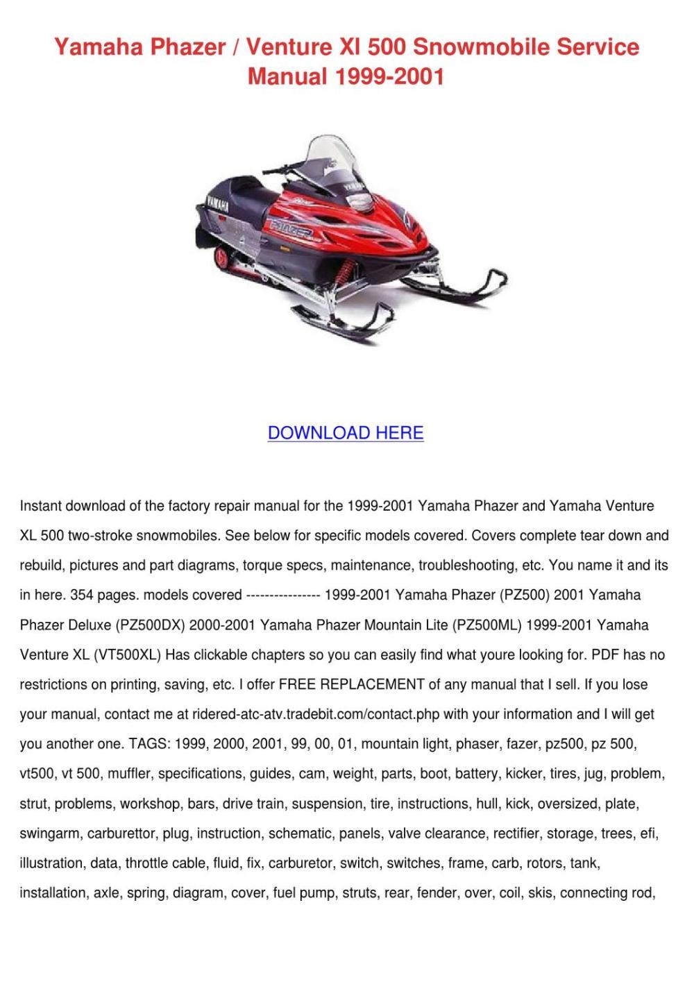 medium resolution of 2001 yamaha phazer 500 wiring diagram