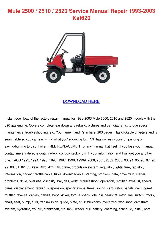 hight resolution of mule 2500 2510 2520 service manual repair 199 by kathryn gressman issuu