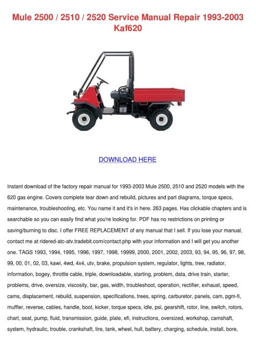 small resolution of mule 2500 2510 2520 service manual repair 199 by kathryn gressman issuu