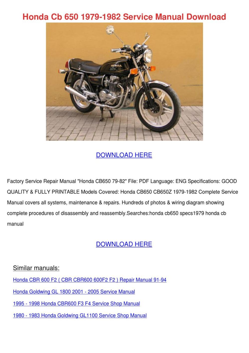 medium resolution of each them format cyclepedia 1983 cb650sc nighthawk printed features detailed black white photographs wiring diagrams introduction chapter engine
