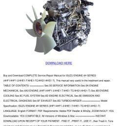 isuzu engine 4h series service repair manual [ 1060 x 1500 Pixel ]