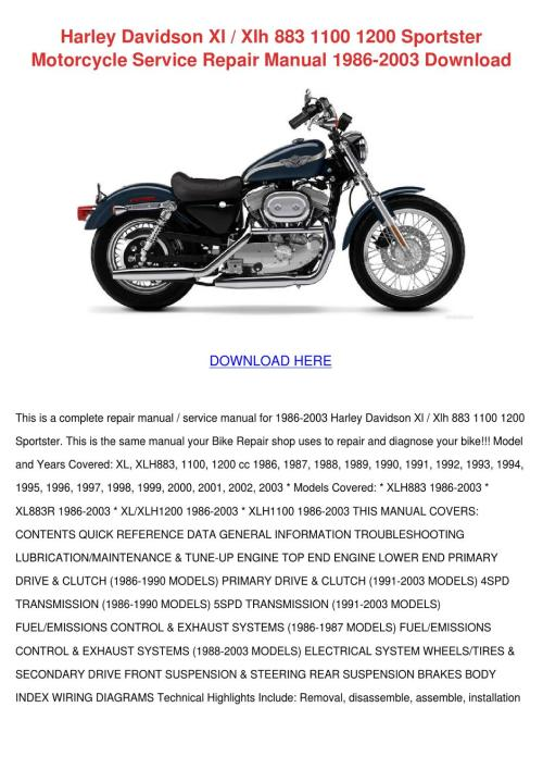 small resolution of harley davidson xl xlh 883 1100 1200 sportste by monika sorice issuu