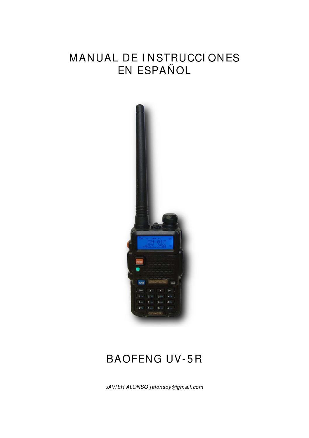 Manual de instrucciones de BAOFENG uv-5r en ESPAÑOL