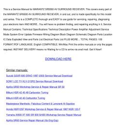 service manual marantz sr5500 av surround rec by alberthatuttle issuu [ 1060 x 1500 Pixel ]