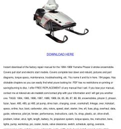 yamaha phazer 485 snowmobile service manual r [ 1060 x 1500 Pixel ]