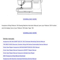 Viking Sewing Machine Diagram Swing Dance Steps Husqvarna 335xpt Repair Manual Online User