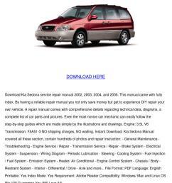 kia sedona service repair manual 2002 2005 do [ 1060 x 1500 Pixel ]