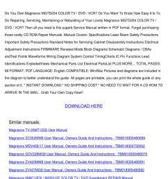 repair manual magnavox mgtd204 color tv dvd v [ 1060 x 1500 Pixel ]