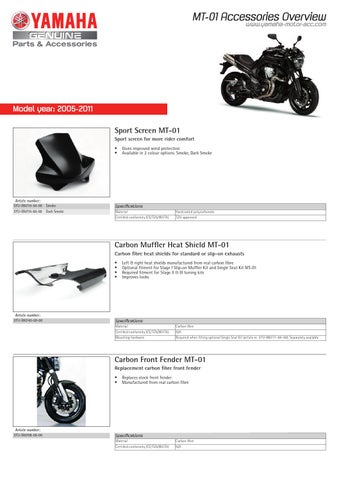 2011 Yamaha MT-01 Accesories overview. by Marcos Armero