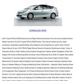 2010 toyota prius zvw30 series service repair [ 1060 x 1500 Pixel ]