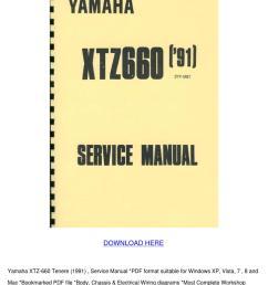 yamaha xtz 660 tenere 1991 service manual [ 1060 x 1500 Pixel ]