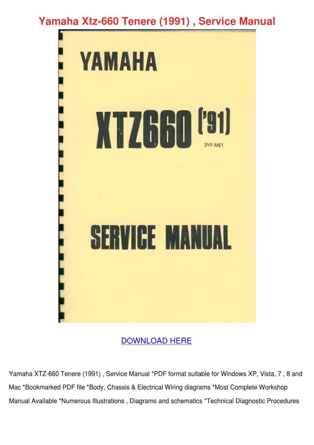 medium resolution of yamaha xtz 660 tenere 1991 service manual