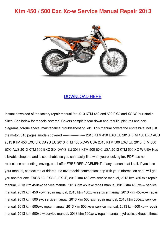 hight resolution of 2013 ktm 450 xc w wiring diagram
