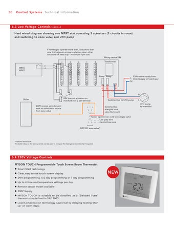 wiring diagram for electric underfloor heating whole house fan great installation of myson brochure and technical guide by issuu rh com
